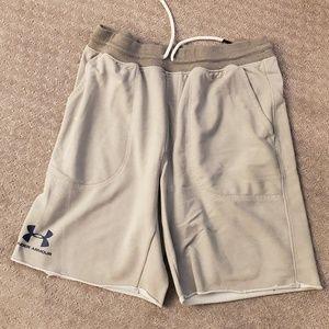 Light grey Under Armour sweat shorts